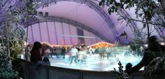 Ice skating at Eden Project this winter