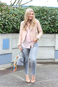grey and pink for spring