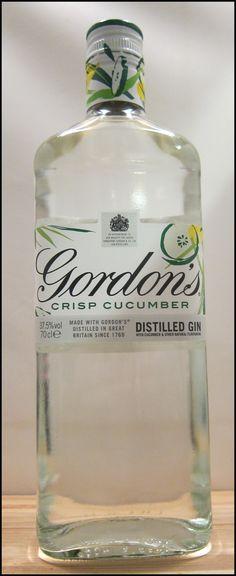 Gordons Crisp Cucumber Bottle Refreshing Drinks, Fun Drinks, Beverages, Gin Bottles, Vodka Bottle, Gin Brands, London Dry Gin, Gin And Tonic, Distillery