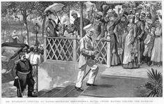 British explorer and journalist Henry Morton Stanley (of Stanley and Livingstone fame) entering the Shepheard's Hotel in Cairo.  G901136.jpg (800×506)