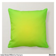 Shop Lime Green Pillow created by Poptopia. Lime Green Cushions, Green Pillows, Throw Pillows, Accent Pillows, Green Pillow Cases, Green And Orange, Lime Green Decor, Custom Pillows, Green Colors