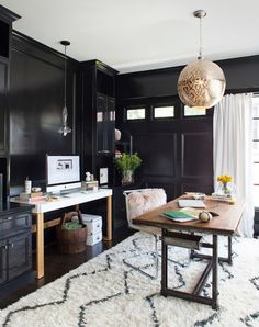 Transitional Home Office by TerraCotta Properties