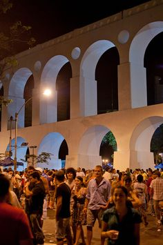 Lapa Arches - Rio de Janeiro. At night it gets quite crowded. Nice nightspot for tourists.