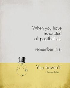 Out of ideas?  Stuck in a rut?  Exhausted all possible solutions...?  Think again.