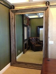 Triple duty--door,mirror and reflects light around the room to make it brighter and appear larger