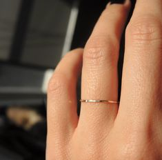 Gold filled dainty teeny tiny stacking ring by RockElegance, $9.00 size 4 or 5