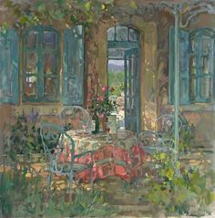 """Susan Ryder (Born, 1944 in England) """"Looking Through, Provence"""""""