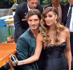 Stefano de Martino e Belen Rodriguez felici sul Red Carpet