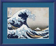 The Great Wave at Kanagawa (from 36 views of Mount Fuji), c.1829 by Katsushika Hokusai. Framed Art Print from Art.com.