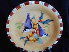 Lenox Winter Greetings Everyday Stoneware by Catherine McClung - Nuthatch Salad Plate