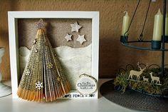 Anleitung für einen weihnachtlichen Rahmen von Steffi fetziskleinewelt.blogspot.de für #WeihnachtenKannKommen von www.danipeuss.de