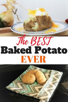 Learn the easiest recipe for microwave baked potatoes. Baked Potato Microwave, Best Baked Potato, Microwave Baking, Baked Potato Recipes, Microwave Recipes, Creamed Potatoes, Baked Potatoes, Quick Lunch Recipes, Sew Simple