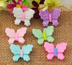 12PCS resin butterfly flatback Scrapbooking for phone flat back /Crafts H1080
