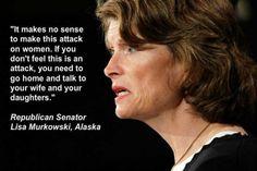 A Republican Senator acknowledging the War on Women.