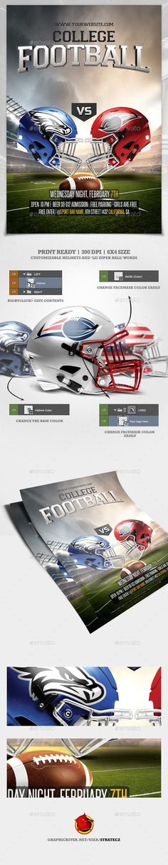 206 best football flyer templates psd images in 2018 sports