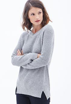 Cable-Knit Sweater #F21Contemporary - Forget the sweater I love her hair!