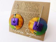 Art from my Heart: Polymer clay earrings by Marie Segal