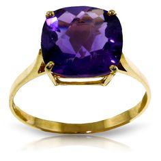Carat White Gold Ring Natural Checkerboard Cut Purple Amethyst For Sale Gold Rings Jewelry, Amethyst Jewelry, Amethyst Necklace, Crystal Necklace, Jewelery, Yellow Engagement Rings, 14k Gold Ring, Purple Glass, Or Rose