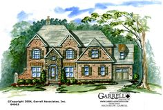 Garrell Associates, Inc.Waverly House Plan 04003, Front Elevation,Traditional Style House Plans, Design by Michael W. Garrell