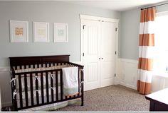 Numbered Street Designs: Parade of Homes - paint color Luna Light by Columbia Gray Bedroom, Bedroom Decor, Kids Bedroom, Nursery Decor, Nursery Crib, Nautical Nursery, Baby Decor, Bedroom Ideas, Master Bedroom