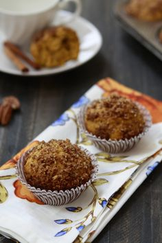 Orange Spice Pumpkin Muffins with Pecan Streusel