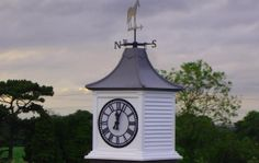 Roof Turrets and Cupolas handbuilt in Hampshire. All our Roof Turrets have a stunning woodgrain finish available in a range of styles and sizes. Barn Cupola, Traditional Clocks, Outdoor Clock, Dream Barn, Grandfather Clock, Stables, Modern Farmhouse, Exterior, Outdoor Ideas