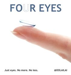 Contact lenses advertisement. Four/For Eyes.