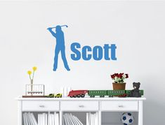 Personalised Golf Wall Art Sticker ( Buy 2 get FREE mix and match ) Personalised Wall Stickers, Boys Wall Stickers, Kitchen Wall Stickers, Childrens Wall Stickers, Personalized Wall Art, Wall Sticker Design, Artwork For Home, Home Decor Wall Art, Bedroom Wall