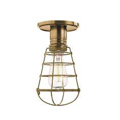 Hudson Valley Heirloom 1-light Brass Semi Flush (Aged Brass), Gold (Metal)