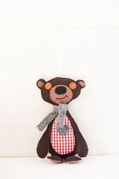 Handmade stuffed animal bear bear doll hand by OliverandGreyson, $44.95