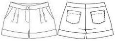 Short pants. Pantalones de línea clásica, patrones para descargar | EL BAÚL DE LAS COSTURERAS