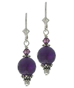 @Overstock - Accentuate your favorite ensembles with these sterling silver dangle earrings. Beautiful Balinese accents, purple Swarovski crystal beads, and amethyst give these earrings a look of distinction. Clasp hooks keep your earrings secure.http://www.overstock.com/Jewelry-Watches/Charming-Life-Sterling-Silver-Amethyst-and-Crystal-Earrings/2469145/product.html?CID=214117 CAD              28.45