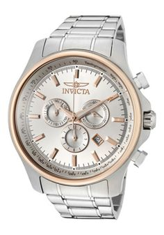 Invicta Return to Previous Page Men's Specialty Chronograph SS Silver-Tone Dial Stainless Steel