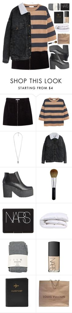 """""""STAY WITH ME"""" by emmas-fashion-diary ❤ liked on Polyvore featuring MANGO, Forever 21, ASOS, Bare Escentuals, NARS Cosmetics, Falke and Louis Vuitton"""