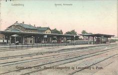 Lauemburg in Pommern, Bahnhof