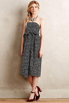 Love the style and length of this dress!!  Tied Barcelona Dress - anthropologie.com