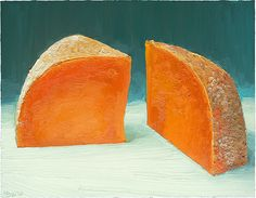 Mimolette cheese portrait.  This was a commission, so the print is available at :  http://mikegeno.com/cheese%20album/pages/Mimolette2_matted_PRINT.htm