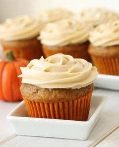 100% whole grain pumpkin cupcakes from  Texanerin Baking