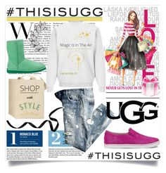 """""""Play With Prints In UGG: Contest Entry"""" by fashionscherry ❤ liked on Polyvore featuring UGG Australia, Garance Doré and thisisugg"""