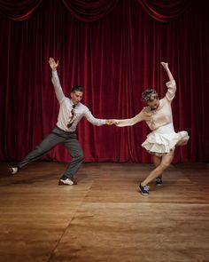 https://flic.kr/p/z5dC5s | Nicolas Deniau and Mikaela Hellsten at ESDC 2015 | Lindy Hop Master Showcase final at European Swing Dance Championship in London