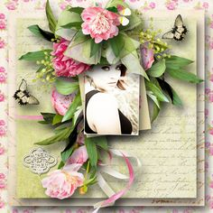Raspberry, Floral Wreath, Bloom, Scrapbooking, Layout, Wreaths, Gallery, Projects, Beauty