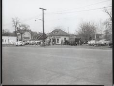Image of 79.022.1807, Negative, Film: ABC service station, photo by Herbert A. Flamm, 1956