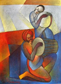 Buy Waghya-muruli artwork number a famous painting by an Indian Artist Sudhir Bangar. Indian Art Ideas offer contemporary and modern art at reasonable price. Dance Paintings, Indian Art Paintings, Modern Art Paintings, Worli Painting, Acrylic Painting Canvas, Figure Painting, Indian Folk Art, Indian Artist, Rajasthani Painting