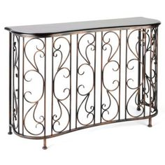 Serpentine Scroll Console at Kirkland's Home Decor Furniture, Accent Furniture, Repurposed Furniture, Wrought Iron Paint, Arts And Crafts House, Radiator Cover, Console Table, Entryway Tables, Interior Decorating