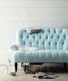 Beautiful blue sofa