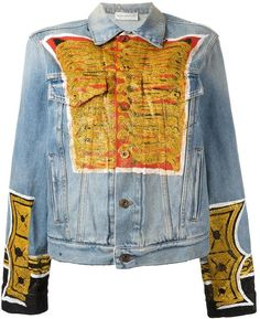 Faith Connexion printed denim jacket Printed Denim, Jacket Pattern, Print Jacket, Polyvore Outfits, Jackets For Women, Faith, Street Style, Stylish, Outerwear Jackets