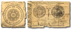 El Escudo de Venezuela en nuestras Monedas. Época: Guerra de Independencia (1810-1820)