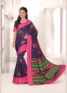 An exclusive store for online shopping of sarees. Order this cotton   multi colour casual saree for casual and party.