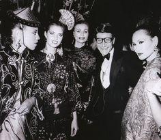 ALVA- JOAN- APOLLONIA- YVES SAINT LAURENT  Opium Perfume Launch Party in New York  1978