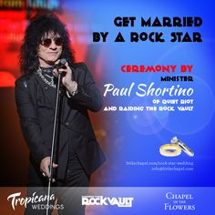 """""""Raiding the Rock Vault"""" and Tropicana Weddings to Offer Rock Star Wedding Package -"""